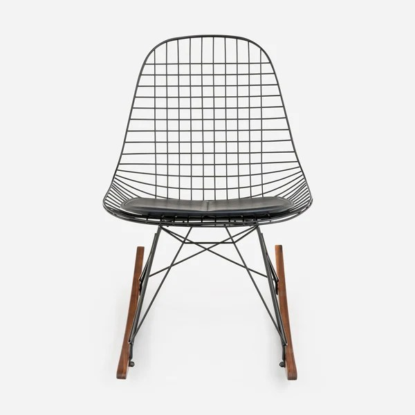 black wire chair ergonomic with headrest case study furniture rocker modernica inc walnut