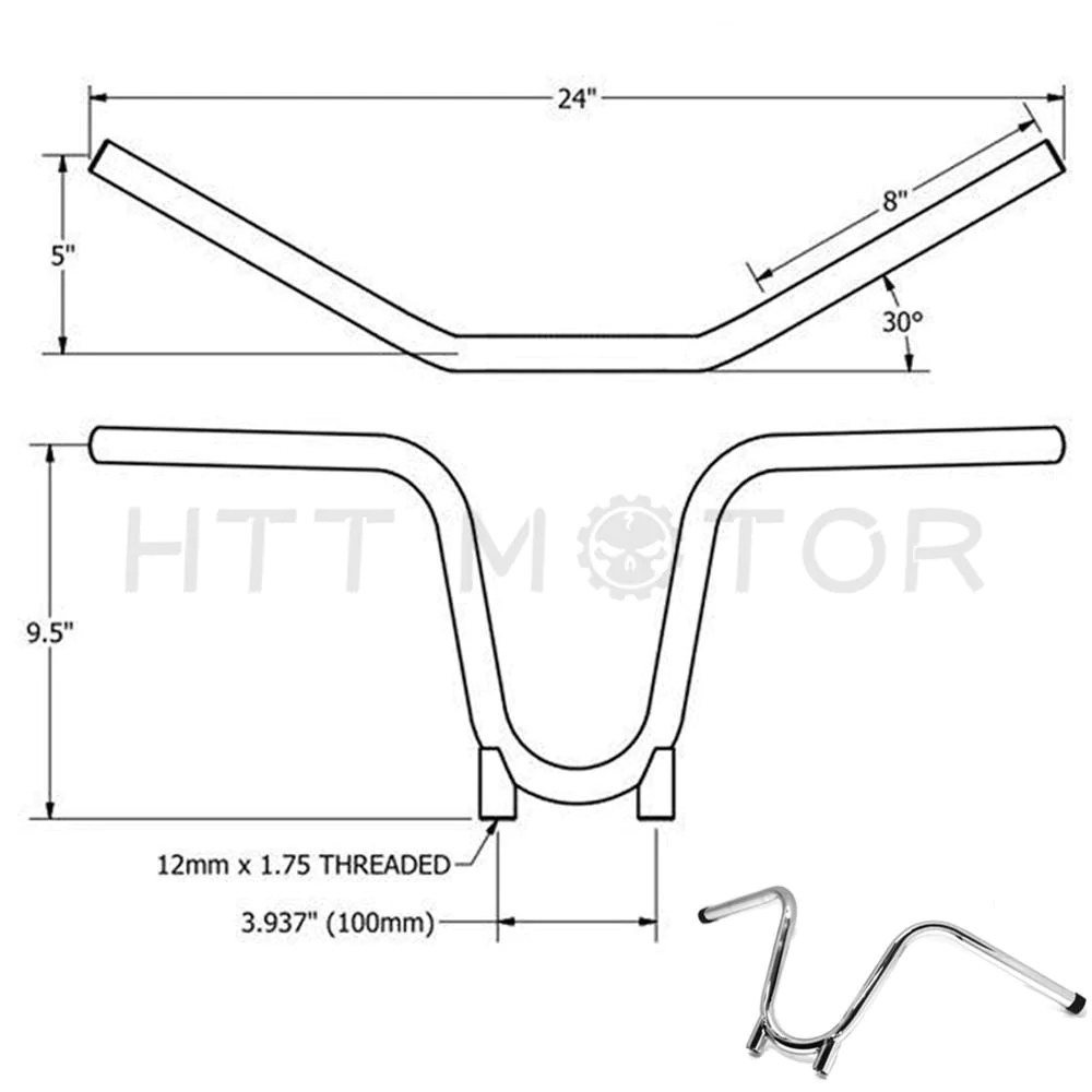 hight resolution of 7 8 xs650 bootlegger handlebars chopper bobber hardtail ape yamaha tx650 chrome