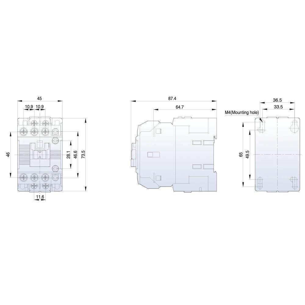 medium resolution of ls contactor metasol 3 pole 415vac coil 9a ac3 25a ac1