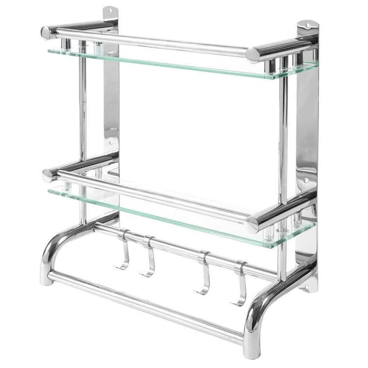 Stainless Steel Bathroom Rack Mygift