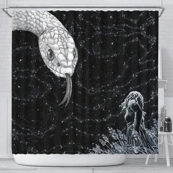 Amazing Snake Print Shower Curtain Free Shipping Paws With Attitude