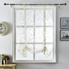 Short Kitchen Curtains Fifth Wheel With Outdoor Modern Design Jacquard Organza European Style Window Treatments Roman Blinds White Tulle