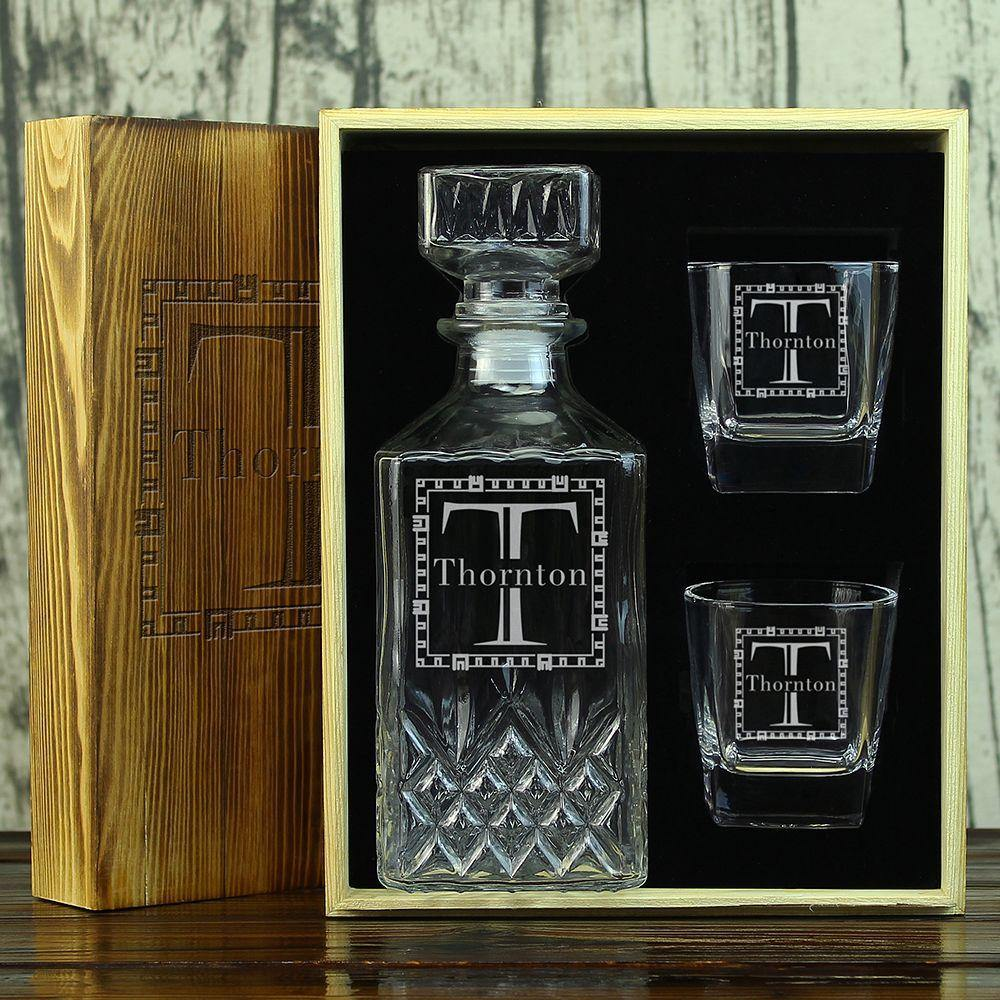 Personalized Decanter Set Groomsmen Gifts Ideas