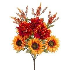 artificial fall flowers silk