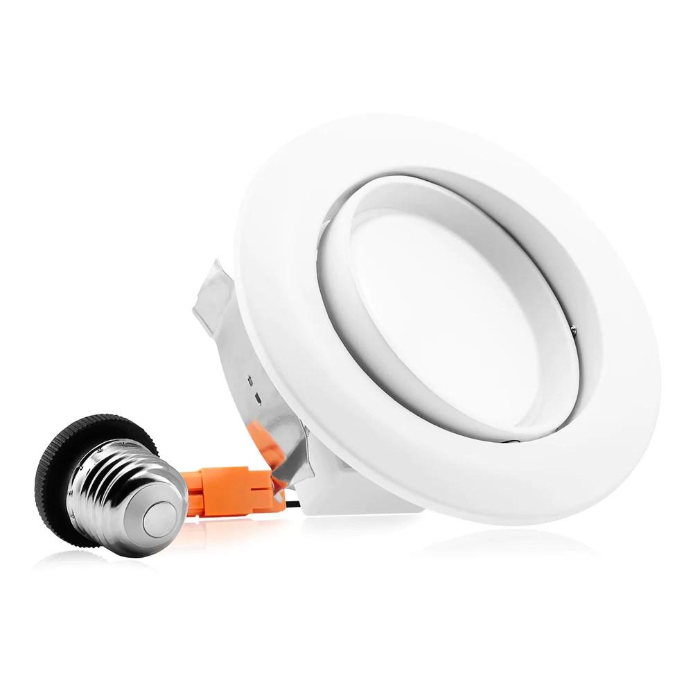 4 led gimbal eyeball recessed light directional lens 10w