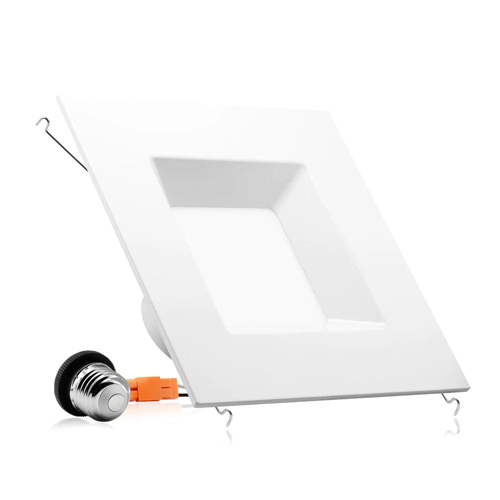6 led square recessed light 15w