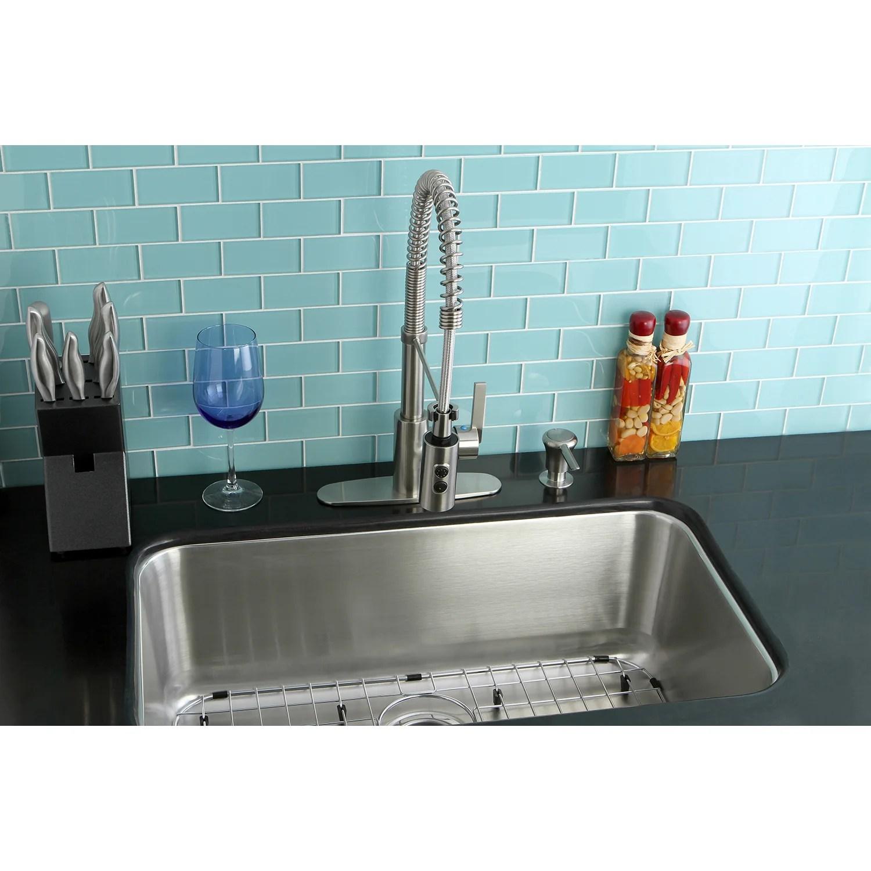 kingston brass loft stainless steel undermount single bowl kitchen sin complete sink supply