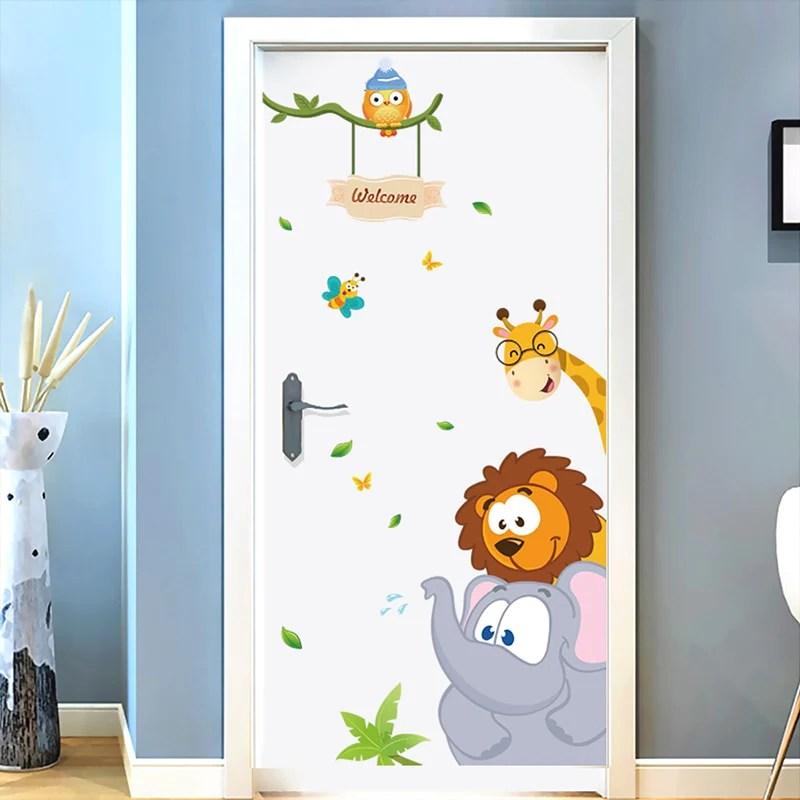 sticker de porte pour chambre d enfant