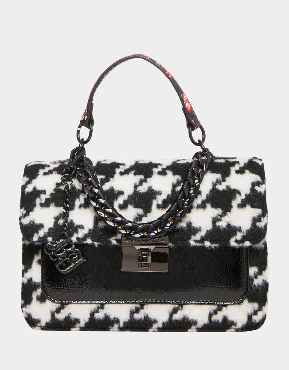 HOUNDS TOWN TOP HANDLE BAG BLACK-WHITE