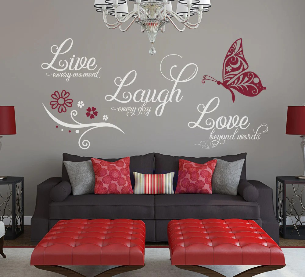 Live Laugh Love Wall Art Sticker  Smarty Walls