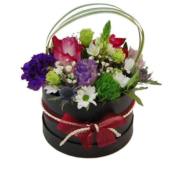 Blumenstrau Vera mit weiroten Rosen Germini und