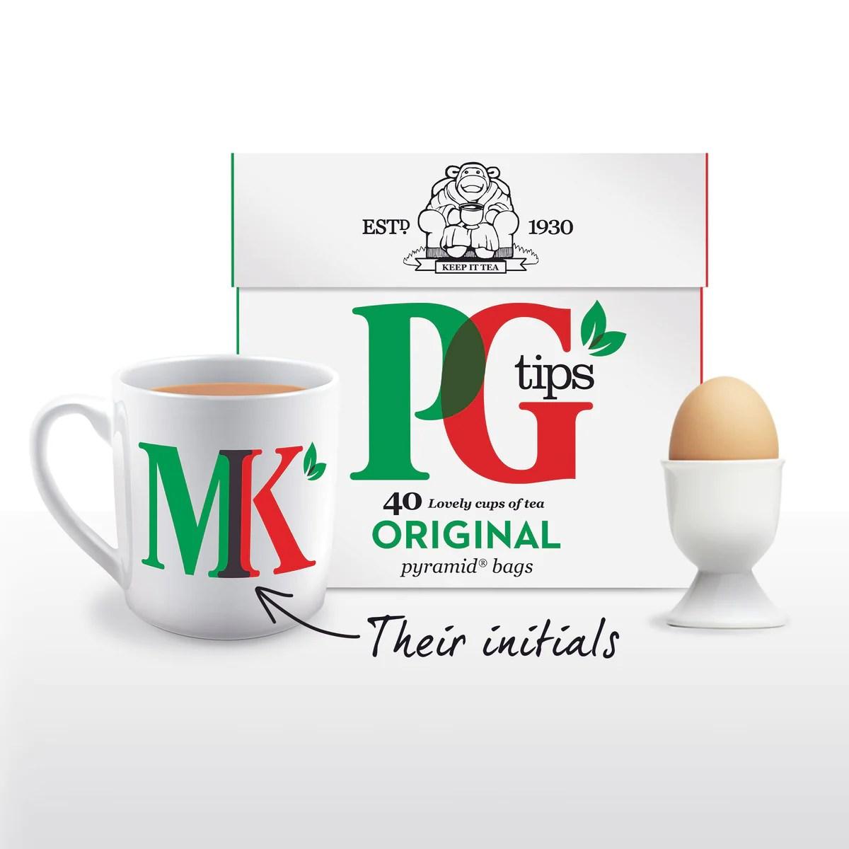 pg tips personalised breakfast