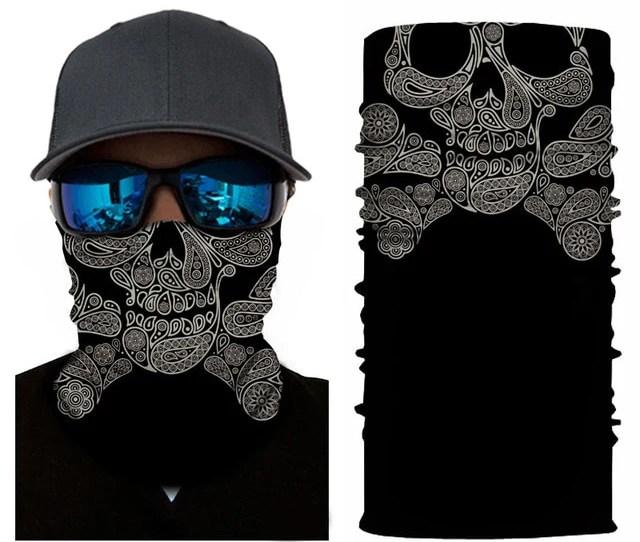 Skull Mask Face Hood Tube Neck Headband Scarf Ski Motorcycle Outdoor Halloween