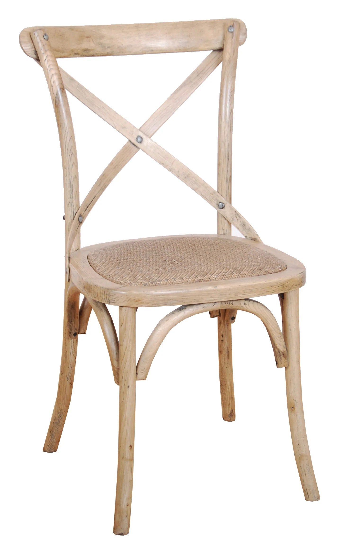 Cross back Dining Chairs in 5 Colours Against The Grain