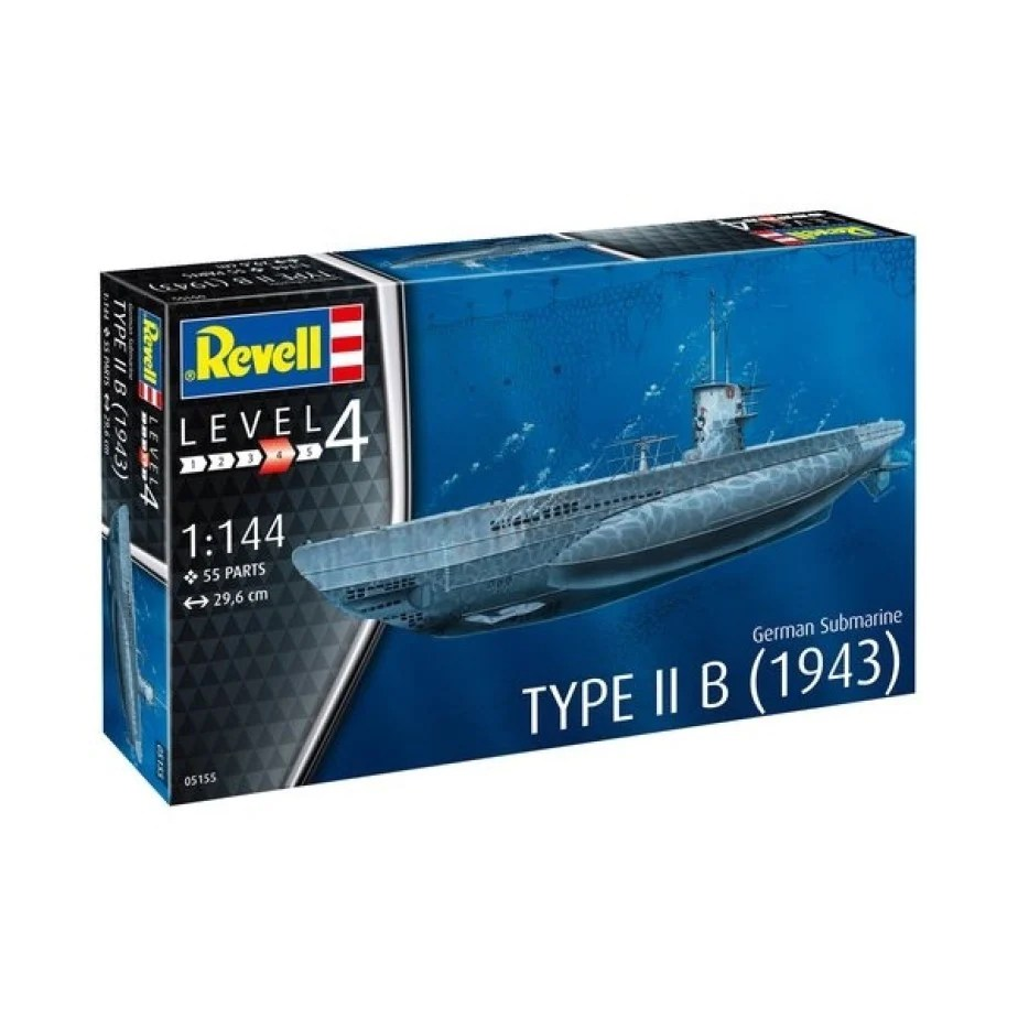 hight resolution of revell 1 144 german submarine type iib 1943