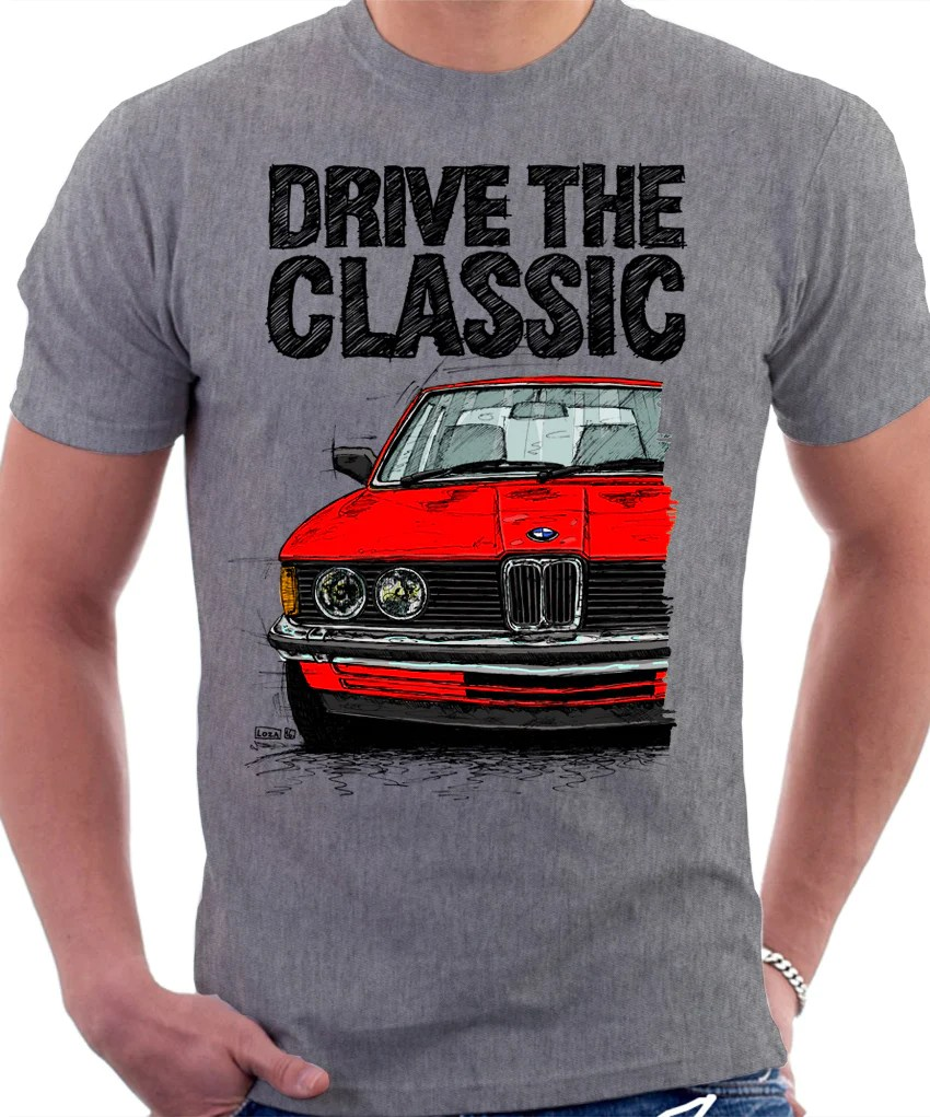 medium resolution of drive the classic bmw e21 double headlights t shirt in heather grey c automotive art by lukas loza