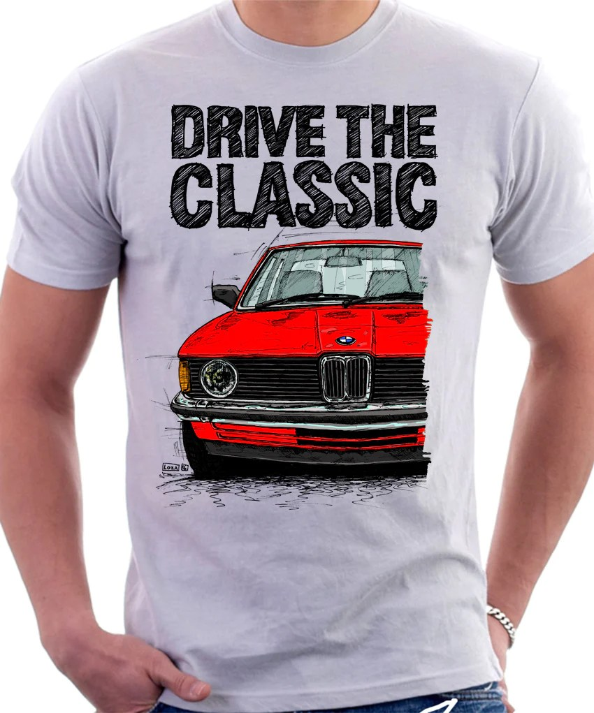 medium resolution of drive the classic bmw e21 single headlights t shirt in white colour automotive art by lukas loza