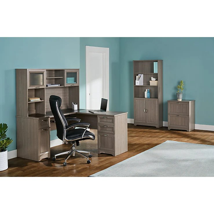 Realspace Outlet Magellan Collection LShaped Desk Gray