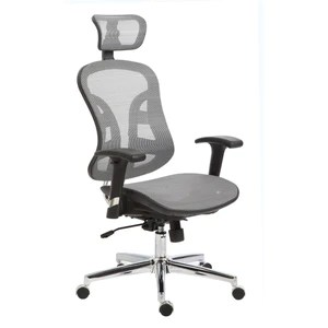 office chair with headrest design black the exeter high back ultra ergonomic silver mesh furniture 4 sale