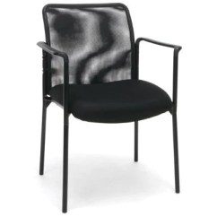 Chair With Arms Parson Dining Room Sets Sharpline Mesh Stacking Visitor Black Office