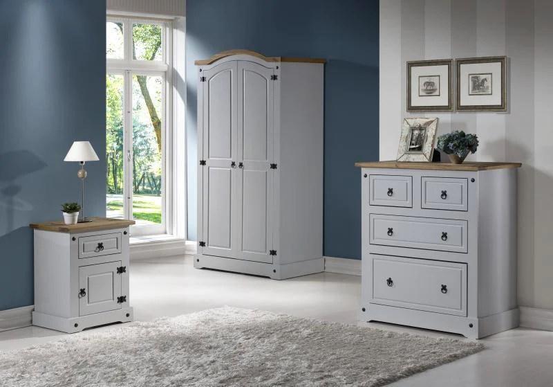 Corona Grey Bedroom Set Discount Furniture Appliances