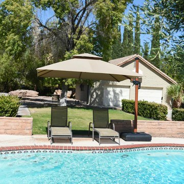 10 feet square sunbrella square cantilever patio umbrella outdoor umbrella with 360 degree rotation