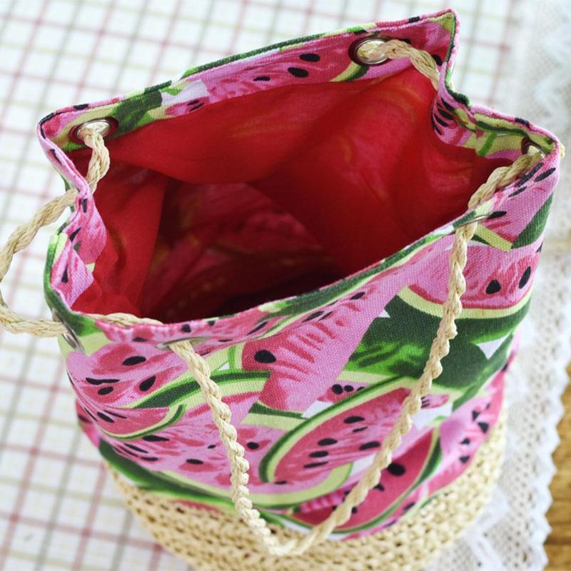 watermelon weave tote