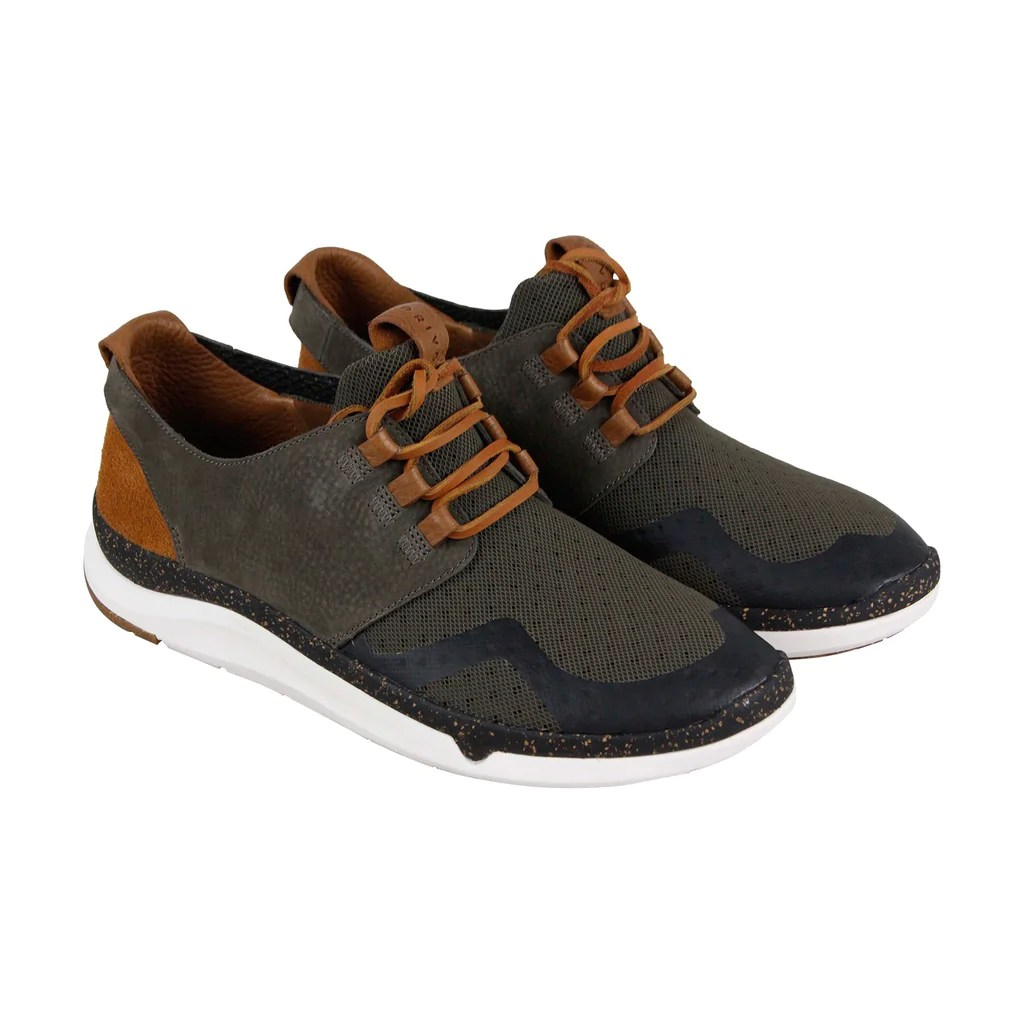 Clarks Privo Motion Mens Gray Mesh & Leather Top