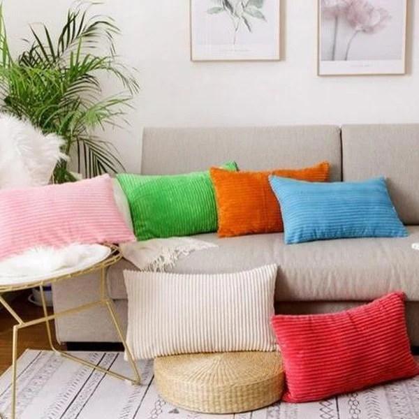 soft velvet corduroy cushion covers pillow cases sofa decoration home decor tiptophomedecor