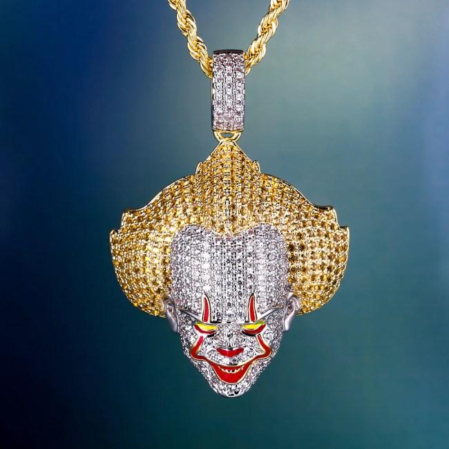 Iced Evil Clown Pendant
