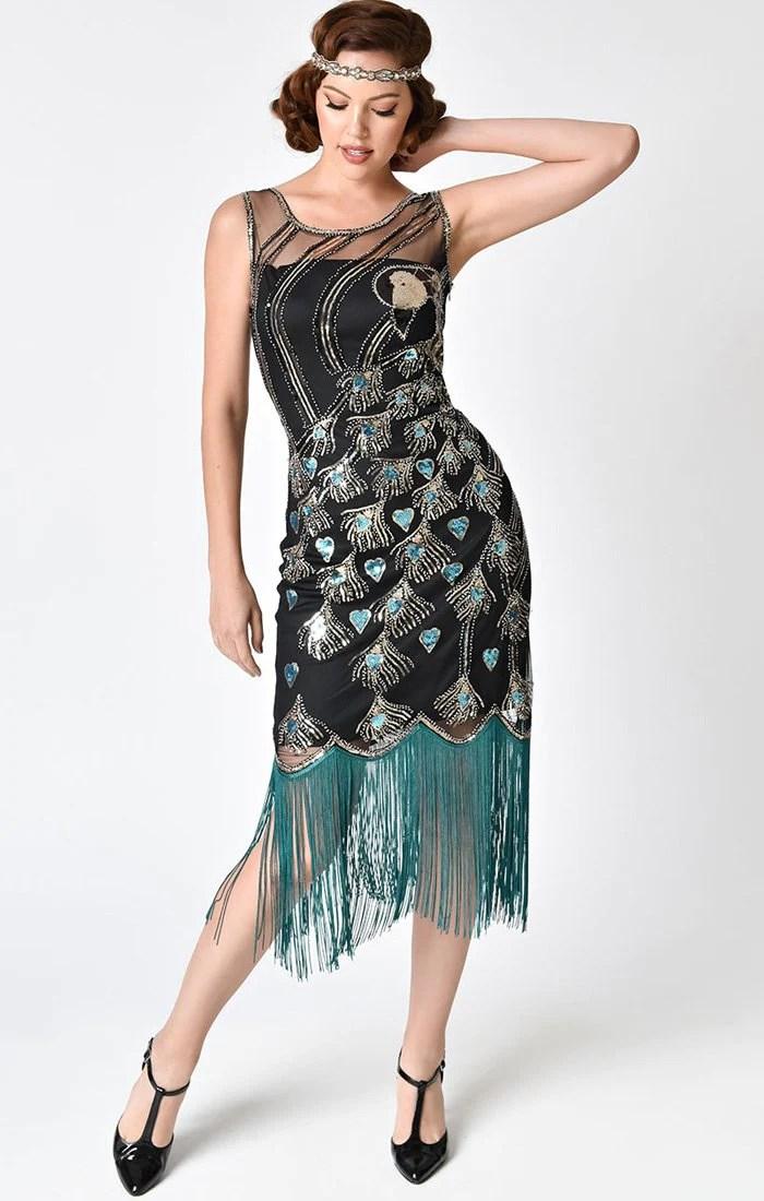 Peacock Beaded Flapper DressAntoinette