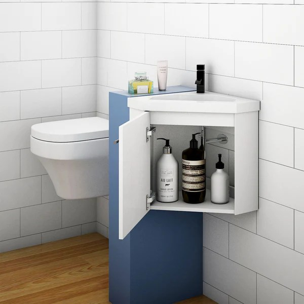 Corner Basin Vanity Unit For Small Bathroom Cloakroom Aica Bathrooms