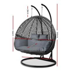 Hanging Chair Qatar Men S Valet Uk Gardeon Outdoor Double Swing Black Loungeout