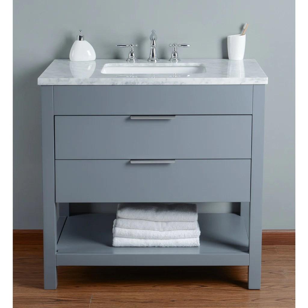 Stufurhome Rochester 36 Inches Grey Single Sink Bathroom Vanity Stufurhome