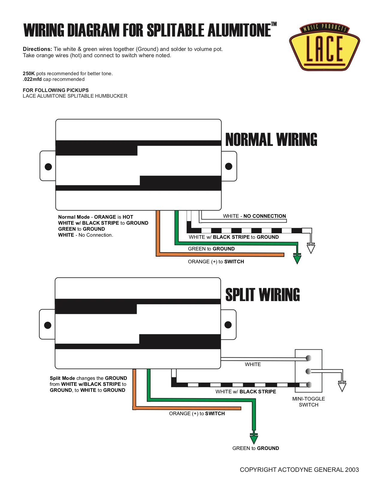 small resolution of wiring diagram for humbucker