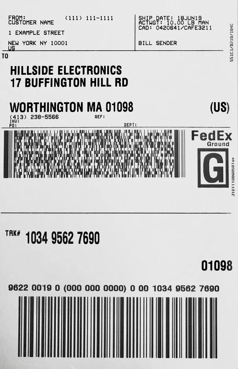 Bill Sender Fedex : sender, fedex, Fedex, Label, Sender, Labels