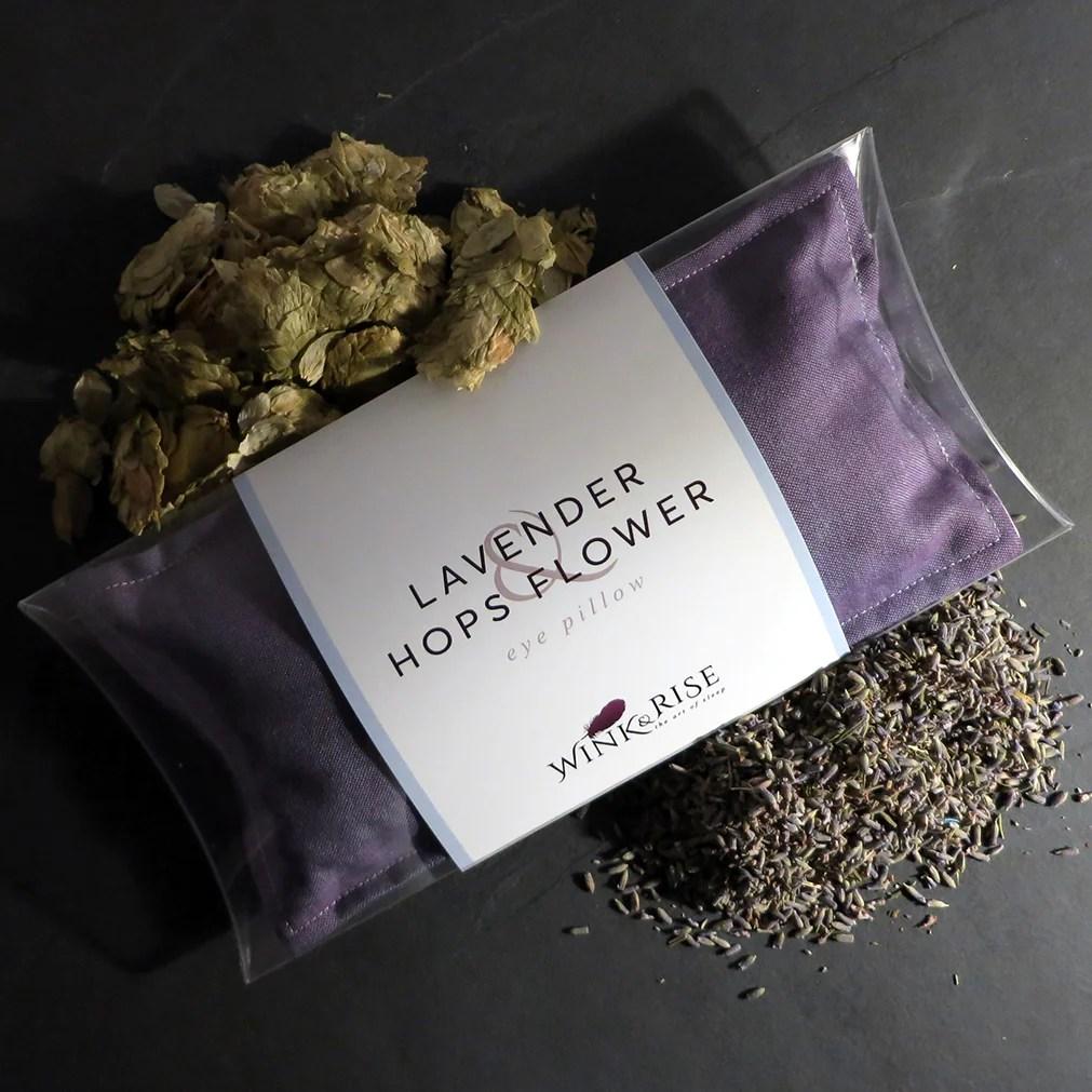 lavender hops flower silk eye pillow