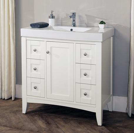 fairmont designs 1512 eu3019 shaker americana 30x19 euro vanity polar white
