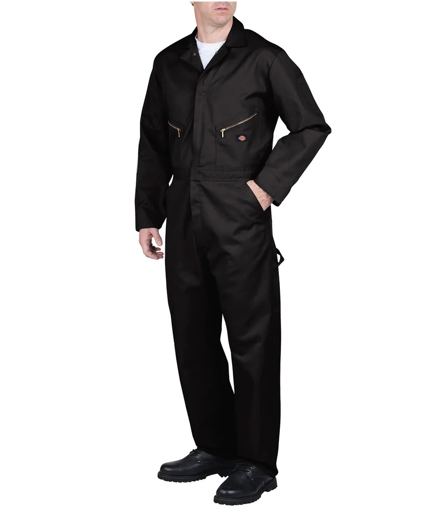 Dickies 48799 Long Sleeve Coverall - Black Dave' York