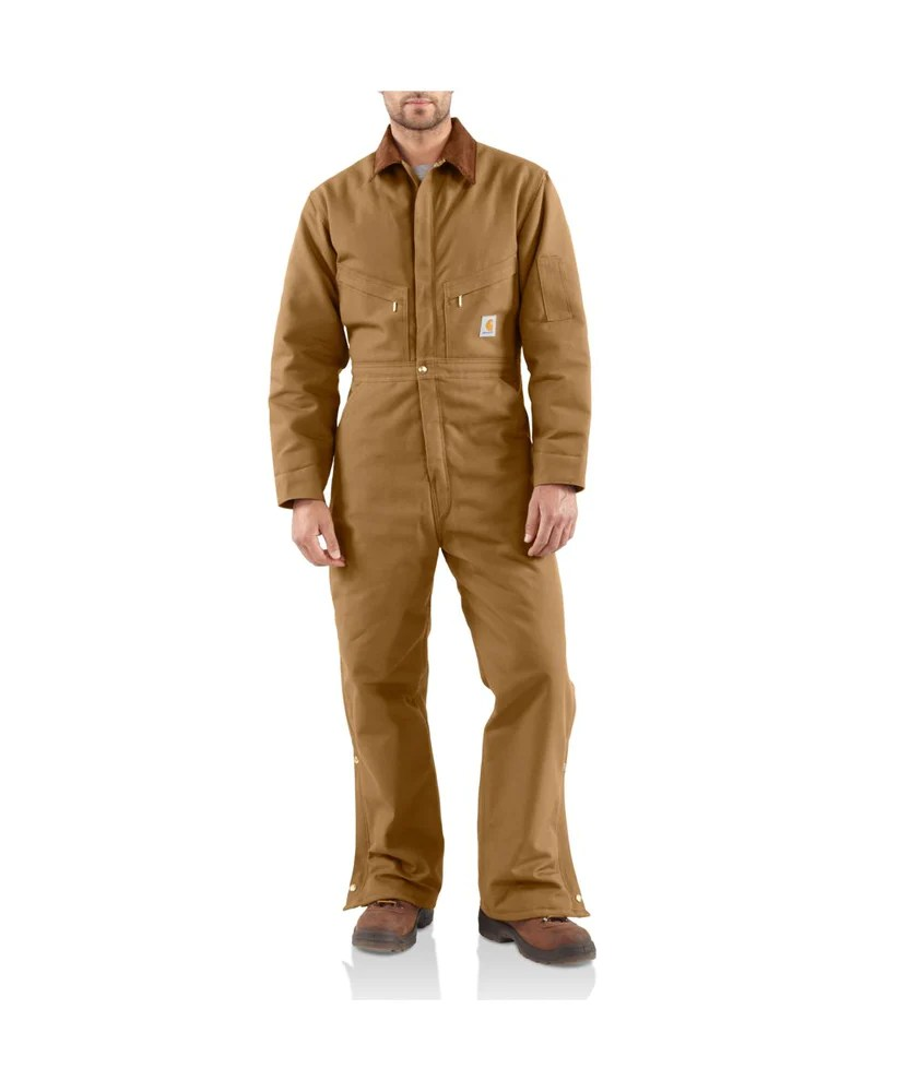 Carhartt X01 Quilt-lined Duck Coveralls Brown