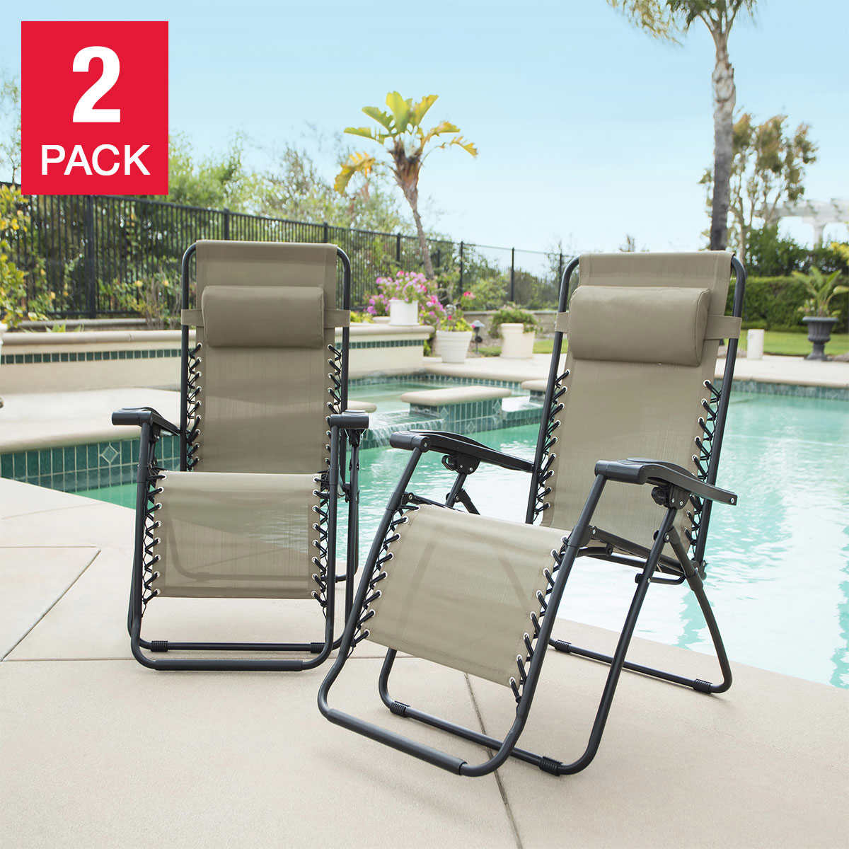 Zero Gravity Outdoor Lounge Chair Zero Gravity Reclining Outdoor Lounge Chair 2 Pack
