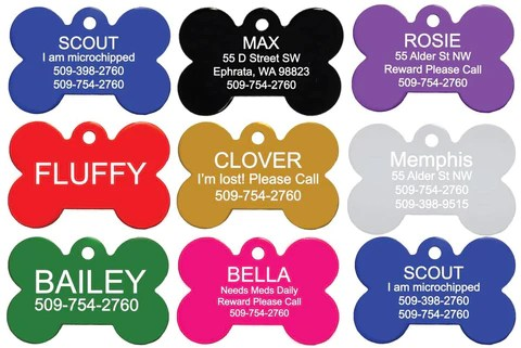 pet tags personalized engraved