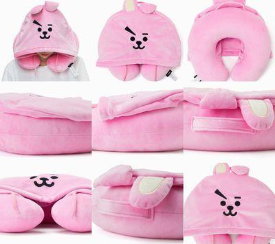 bts x bt21 hoodie neck cushion bt21