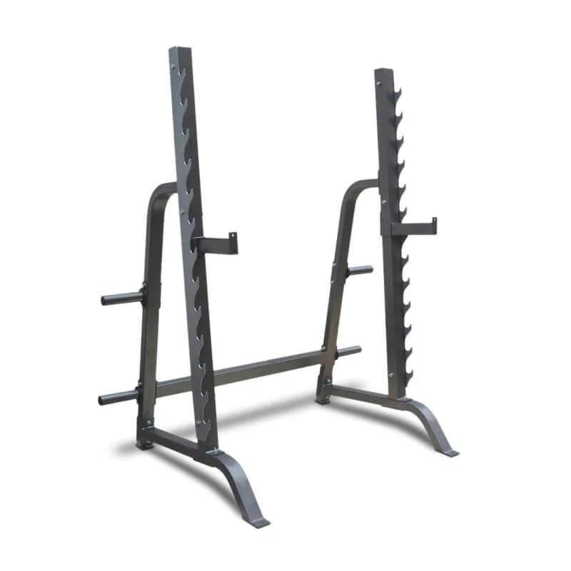 squat rack and bench press station half
