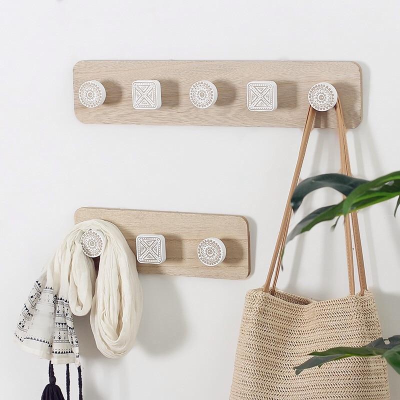 alva wooden wall mounted coat rack with hooks buy estilo living