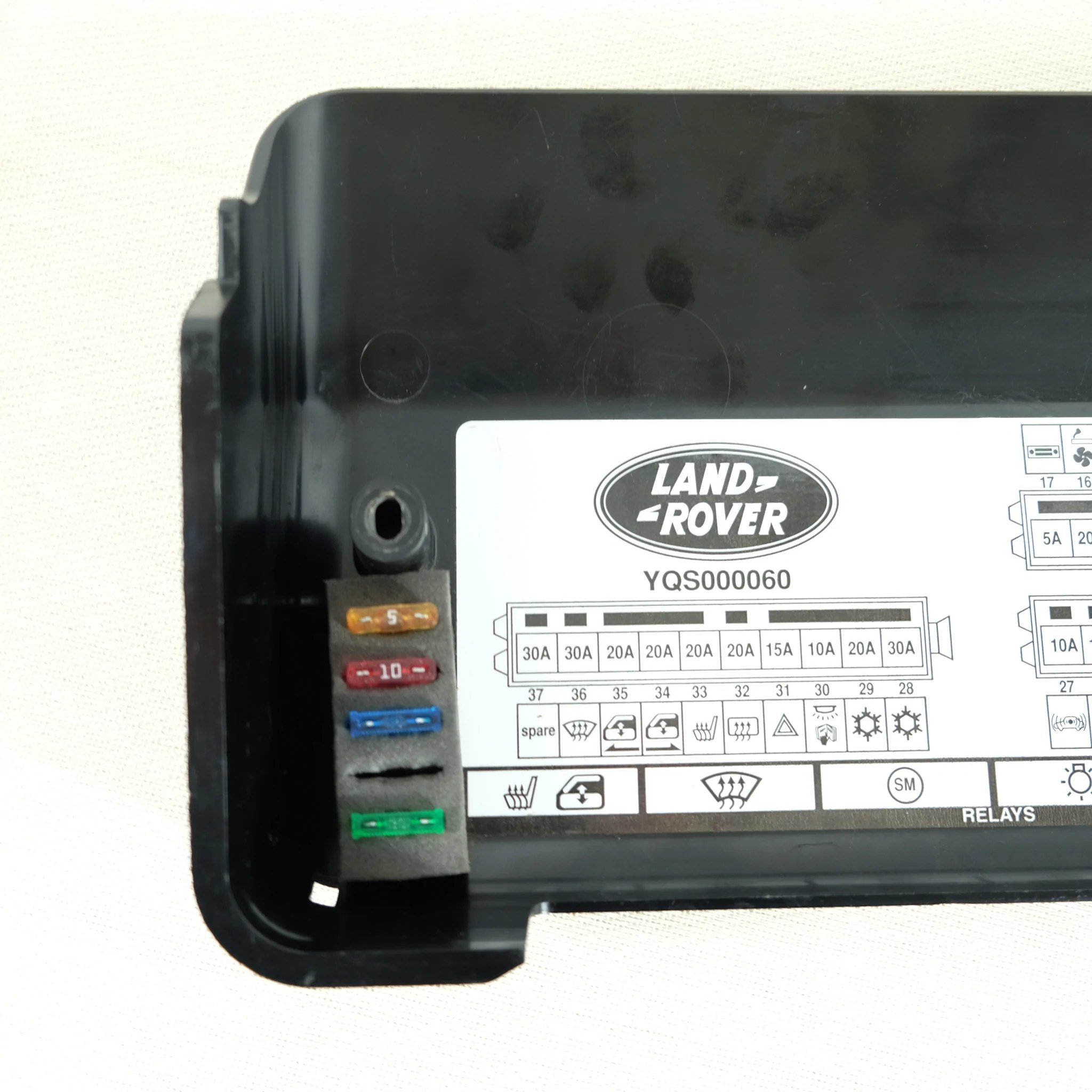 land rover defender oem td5 fuse box cover used the spare companyland rover td5 [ 2048 x 2048 Pixel ]