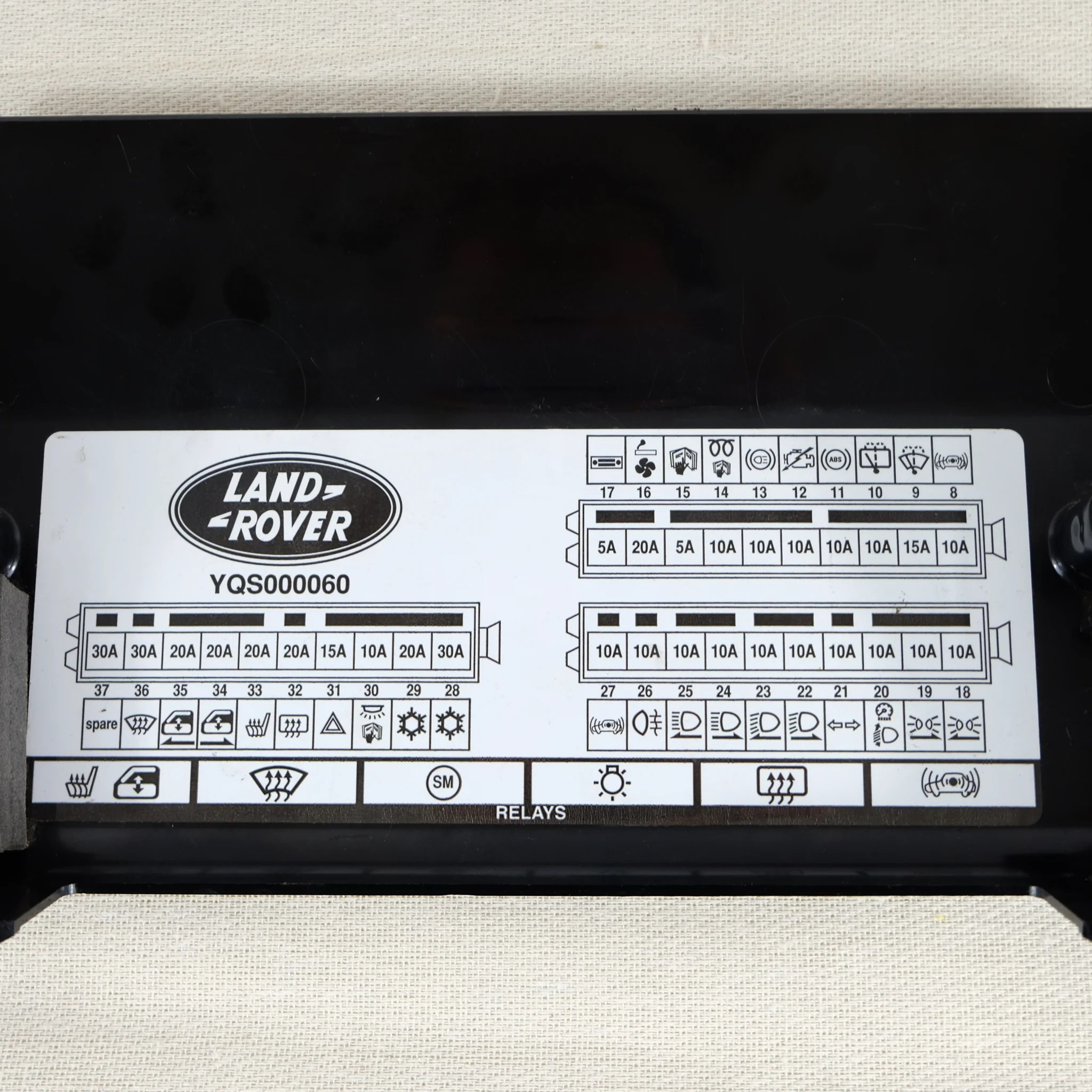 land rover defender oem td5 fuse box cover used the spare company [ 2048 x 2048 Pixel ]