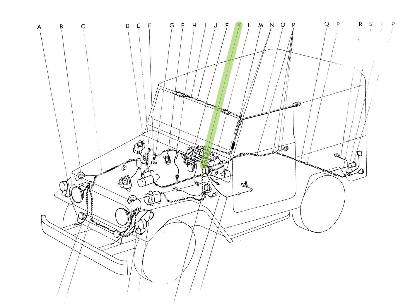 hight resolution of wiring diagram grommet key wiring diagram img firewall grommet wire harness oem fj40 fj45
