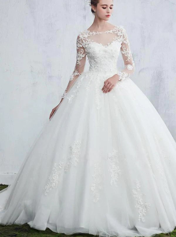 Princess Wedding GownWedding Dresses with Long Sleeves