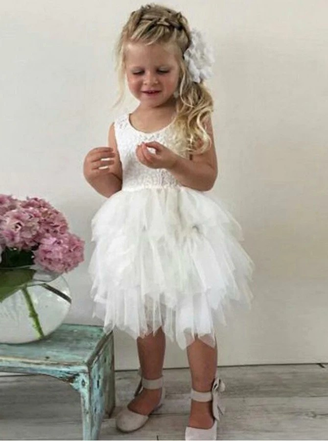Tulle Flower Girl DressesBaby Flower Girl DressCute